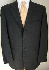 Givenchy Blazer 40L Charcoal Gray Herringbone 4 Buttons Jacket 3/4 Roll Monsieur