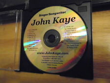 RARE PROMO John Kaye DEMO CD singer songwriter pop r&b Jerome Lopez hawaii 12trx