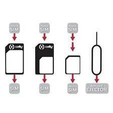 CELLY UNIVERSAL KIT FOR SIM CARD WITH CLIP ACCESSORI E UTILITA PER MICRO SIM