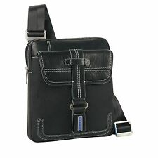 Piquadro, Land, Dark Blue organized shoulder pocketbook CA1358LA/AV