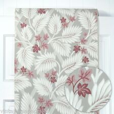 1950s Vintage Wallpaper  Tropical Leaves on Gray