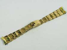 Rolex Vintage 1966 Swiss Yellow Gold Plated Oyster Rivet Expansion Band! 19mm