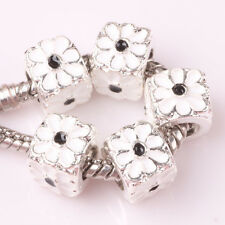 NEW 5pcs Tibetan silver lampwork spacer beads fit Charm European Bracelet AB175