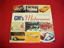 GM MOTORAMA GLAMOROUS SHOW DREAM CARS HARDCOVER BOOK BUCH + DUST JACKET TEMPLE