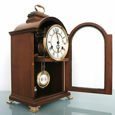 WARMINK WUBA TOP Clock Dutch Vintage Wood SKELETON/Mantel/Shelf SUPERB Condition