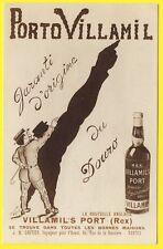 cpa Rare Pub Bouteille Anglaise VILLAMIL'S PORT NANTES Illustré Par DUMOCHE 1922