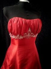 Forever Yours 48223 Red Taffeta w/ Silver Wedding Bridal Dress 10 NWT