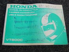 Bedienungsanleitung  Handbuch Bordbuch Kundendienst         Honda VT600