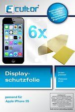 6x Apple iPhone 5S Schutzfolie klar Displayschutzfolie Folie unsichtbar