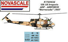 ADF UH-1H Huey Mini-Set Decals 1/72 Scale N72063d