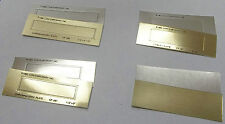 "CAWLEY PLATES  ""NO FAULT"" -KINGSLEY HOT STAMP -8 STYLES - GOLD OR SILVER - PK/50"