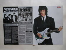 Gary Moore Mandy Smith Westwoorld Metallica clippings Sweden 1980s