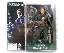 "TERMINATOR 2/ T-800 STEEL MILL 18 CM- ACTION FIGURE 7"" IN  BOX NECA"