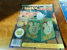 Used August 99 Plastic Canvas Crafts Magazine 17 New Projects Country chickens +