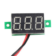 Mini 3-Digital Display Voltmeter 2 Wire DC 2.5-30V Red LED Panel Voltage Meter