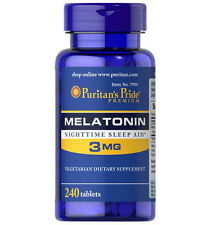 Puritan's Pride Melatonin 3mg Night Time Sleep Aid 240 Tablets