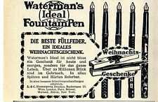 Waterman 's ideal Fountain pen histórico anuncio 1913