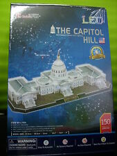 3D Puzzle The Capitol Hill LED USA (61cm lang) Washington Cubic Fun Licht Light