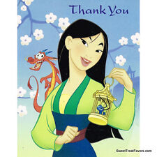 MULAN Party Supplies THANK YOU NOTES Birthday Decoration Princess Girl Asia x8 *