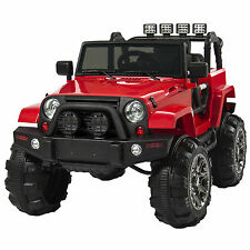 Best Choice Products 12V Ride On Car Truck Remote Control 3 Speed LED Lights Red