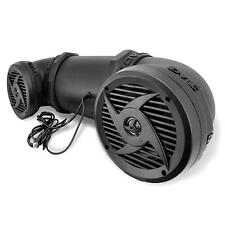 "New Pyle PLATV520 Dual 6.5"" 500W ATV/Marine Amplified Tube Speaker System w/Aux"
