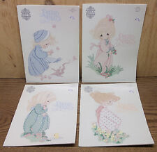 4 Cross Stitch Pattern Booklet lot Precious Moments Complete Set of Seasons NEW