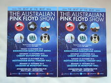 PINK FLOYD/The Australian Pink Floyd Show Live 2016 UK Tour Promo flyers x 2