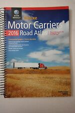 2016 Rand McNally Motor Carrier's Deluxe Road Atlas, Laminated ,Spiral Bound