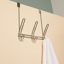 High Quality 3 Hook Chrome Finish Over The Door Hanging Rack