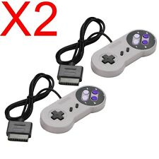 2 X NEW 16 Bit Controller for Super Nintendo SNES System Console Control Pad