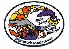 Plymouth Roadrunner Patch Beep Beep Coming Through Hot Rod Hemi Muscle Car