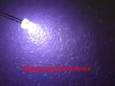 1000pcs 3mm white light led super bright Round Diffused fog