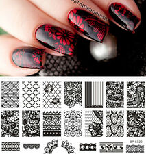 BORN PRETTY #L020 Lace Flower Pattern Nail Art Stamp Template Image Plate