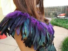 Assassin's Creed Purple Green Feather Top Bolero Halloween Costume Old Times
