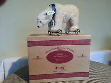STEIFF  POLAR  BEAR ON WHEELS CLUB LTD EDITION MOHAIR
