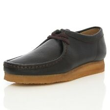 NEW Clarks Originals ** X WALLABEES SHOE ** Black / Brown Leather **  UK 12