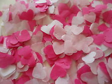 1500 Cerise/Pink/White Tissue Hearts/Wedding Confetti/Celebration/ Decoration
