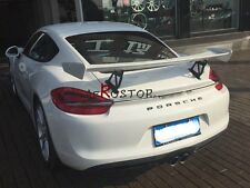 CARBON FIBER GT4 STYLE REAR TRUNK WING SPOILER FOR 2015-2016 CAYMAN 981.1