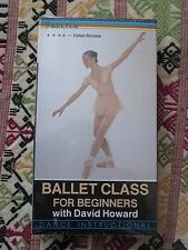 Ballet Class: For Beginners [VHS] With David Howard Dance Instructional NEW