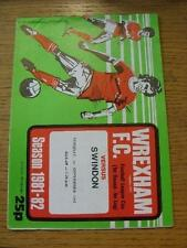 01/09/1981 Wrexham v Swindon Town [Football League Cup] (Team Changes). Item In