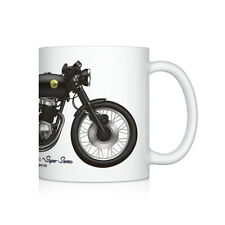 Honda CB750 cafe racer motorcycle illustration Coffee Mug