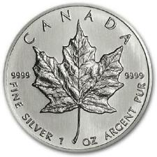 Canadian Maple Leaf 1989 1 oz .9999 Silver Coin