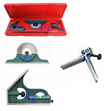 4 Pc 12'' Combination Square 4R Graduation Blade Head Square/Center/Protractor