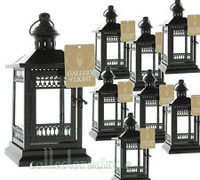 Lot of 8 Victorian Black Garden Wedding Candle Lanterns Party Events