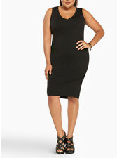 New Torrid Jersey Knit Bodycon Midi Holiday Little Black Dress Size 2 2X