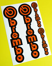 Brembo Motos Motocicleta Horquilla Calcomanías Stickers Orange/black Ktm