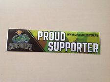 NBL OFFICIAL BASKETBALL TEAM STICKER TOWNSVILLE CROCODILES FORD TOYOTA HOLDEN