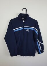 WOMENS OR YOUTHS BLUE NIKE ATHLETIC SPORTS ZIP-UP TRACKSUIT TOP JACKET VGC UK S
