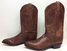 VTG MENS TONY LAMA COWBOY LEATHER BROWN BOOTS SIZE 12 D