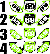 2000-2008 Kawasaki KX 65 Number Plates Side Panels Graphics Decal